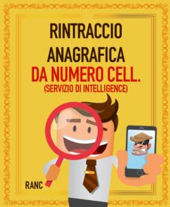 RINTRACCIO ANAGRAFICA DA NUMERO DI CELLULARE